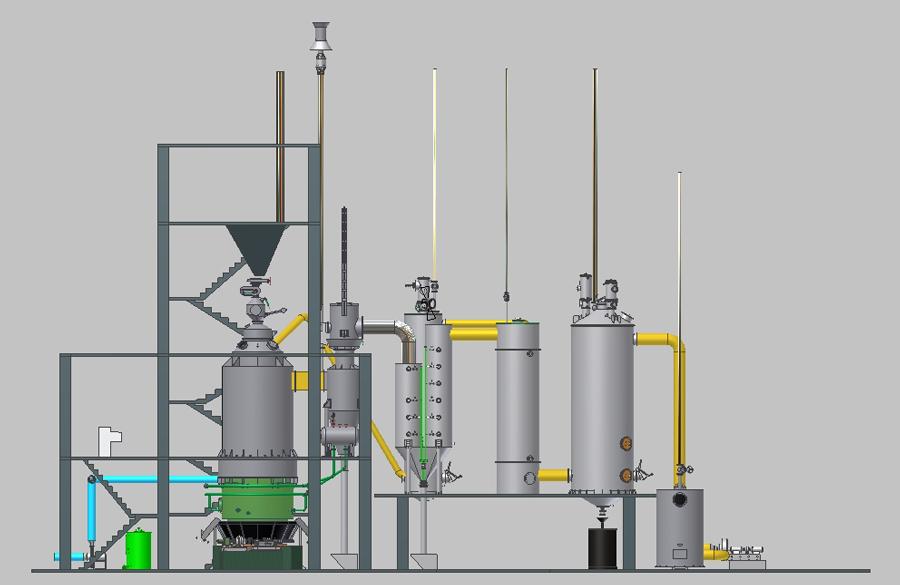两段式煤气发生炉炉体结构